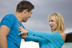 Conflict in relationship Royalty Free Stock Photo