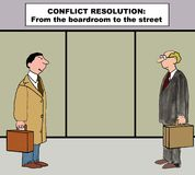 Conflict Resolution Action Plan Stock Image