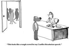 Conflict Resolution Speech Stock Image