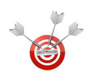 Conflict resolution target illustration design Stock Photo