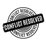 Conflict Resolved rubber stamp Stock Images
