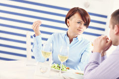 Conflict in a restaurant Royalty Free Stock Image