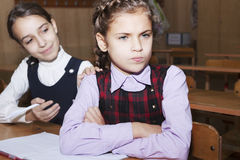 Conflict and schoolgirl Royalty Free Stock Photos