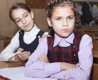 Conflict between schoolgirls Stock Photo