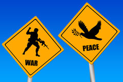 Conflict signs Royalty Free Stock Photography