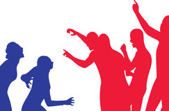 Conflict  -  silhouette illustration Stock Photo
