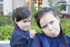 Conflict between sisters Royalty Free Stock Photo