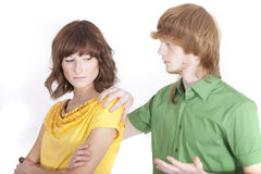 Conflict situation between couple Stock Image