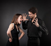 Conflict situation between couple Royalty Free Stock Photos