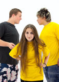Conflict situation has arisen among adolescents Stock Image