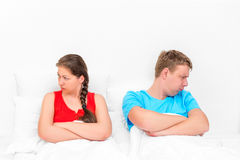 Conflict situation of a young couple Stock Photos