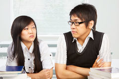 Conflict between students Stock Photography