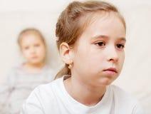 Conflict tussen kinderen Stock Afbeelding