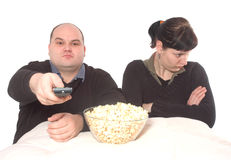 Conflict about the tv program royalty free stock photography