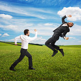 Conflict between two men Stock Photo