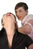 Conflict between two women Stock Photography