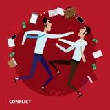 Conflict van twee zakenlieden Royalty-vrije Stock Afbeeldingen