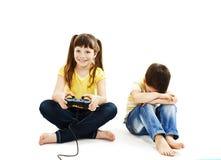 Conflict voor spelen stock afbeeldingen