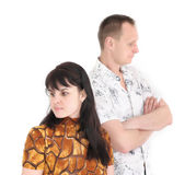 conflict between woman and man Royalty Free Stock Photography