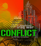Conflict Word Means Military Action And Armed Royalty Free Stock Photo