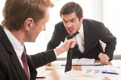 Conflict at working place. Stock Image