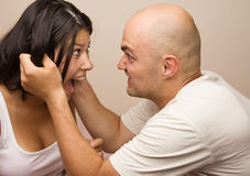 Conflict, young couple. Royalty Free Stock Photo