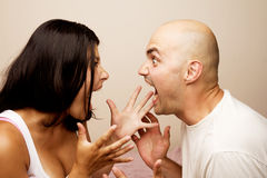 Conflict, young couple. Stock Photo
