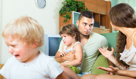 Conflict of young parents Royalty Free Stock Photography