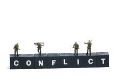 Conflicto Imagen de archivo