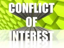 Conflicto de intereses Foto de archivo libre de regalías