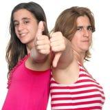 Conflicto de la familia - la muchacha y la madre adolescentes discrepan Foto de archivo libre de regalías