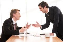 Conflicto del negocio. Fotografía de archivo libre de regalías