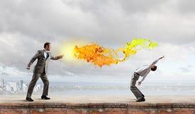 Conflicto del negocio Imagen de archivo libre de regalías