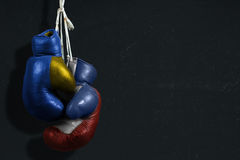 Conflicto entre Ucrania y Rusia Fotos de archivo