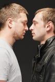 Conflicto y rivalidad foto de archivo