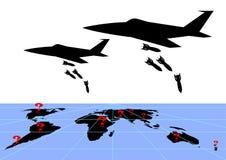 Conflictos militares de Infografics Foto de archivo