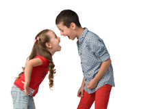 Conflicts between children Royalty Free Stock Images