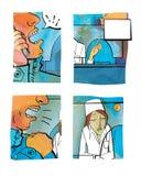 Conflictsituatie in de apotheek vector illustratie