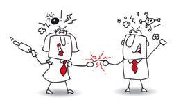 conflit illustration de vecteur