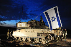Conflit armé d'Israélien Image stock