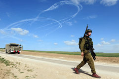Conflit armé d'Israélien Photos stock