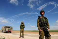 Conflit armé d'Israélien Photographie stock libre de droits