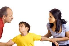 Conflit dans la famille Photo libre de droits