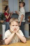 Conflit dans la famille Photographie stock libre de droits