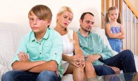 Conflit dans une famille photographie stock