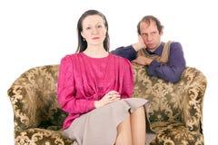 Conflit de couples Image libre de droits