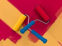 Conflit de famille au sujet de couleur de peinture de mur illustration libre de droits