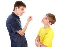 Conflit de frères Image libre de droits
