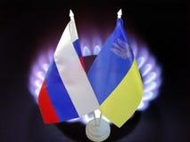 Conflit de gaz de la Russie Images libres de droits