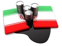 Conflit de pétrole de l'Iran Photographie stock